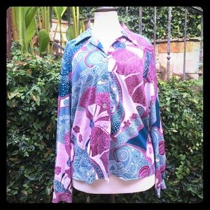 Vintage button down handmade shirt with 70s vibes